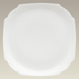 """Square Plate w/ Folded Corners, 8.5"""", SELECTED SECONDS"""
