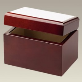 """Wood Tea or Recipe Box with Ceramic Tile, 4"""" x 6"""", SELECTED SECONDS"""
