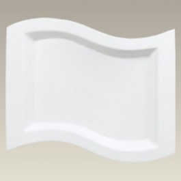 """Wave Shaped Platter, 11.75"""" x 9"""", SELECTED SECONDS"""