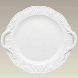 "Cake Plate with Basket Weave, 13.5"", SELECTED SECONDS"