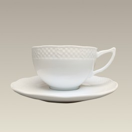 Basket Weave Cup & Saucer, 7 oz., SELECTED SECONDS