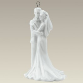 Bride and Groom Ornament, 3.5""