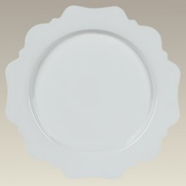 """11"""" Scalloped Dinner Plate, SELECTED SECONDS"""
