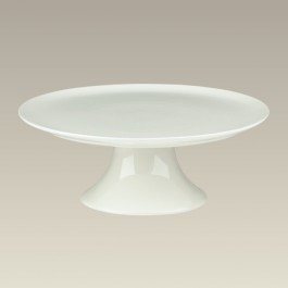 Cream Footed Cake Plate, 11.88""