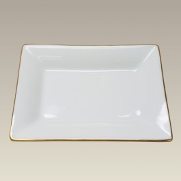 "Candy Dish, 4.875"" x 3.5"" with Gold Trim"