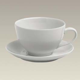 Breakfast Size Cup & Saucer, 14 oz