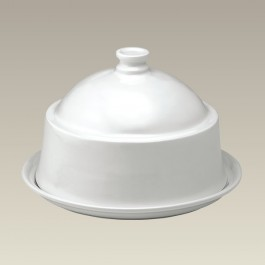 """2 pc Round Domed Cheese Dish, 10"""" x 6"""""""