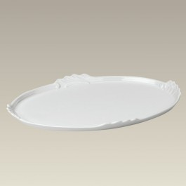 """Oval Tray with Scrolled Edges, 15.25"""" x 11"""""""
