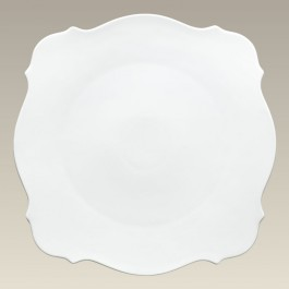 "11"" Square Plate with Scalloped Edge, SELECTED SECONDS"
