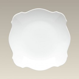 """8.5"""" Square Plate with Scalloped Edge"""