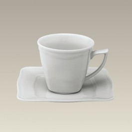 Scrolled Edge Cup & Saucer
