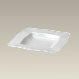 Square Scrolled Edge Soup Bowl, 8.5""