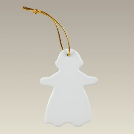 Gingerbread Girl Ornament, 3.5""
