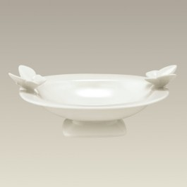 """Footed Candy Dish with Butterflies, 8.75"""" x 6.5"""", SELECTED SECONDS"""
