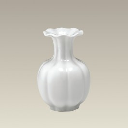 Ruffled, Fluted Top Vase, 5.75""