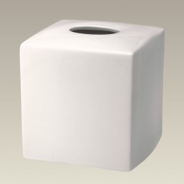 """6.25"""" Warm White Square Tissue Box Cover, SELECTED SECONDS"""