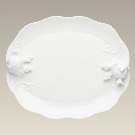 Warm White Platter with fruit, 14""
