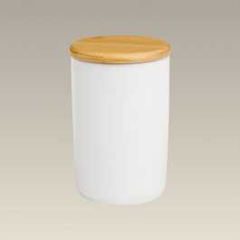 """6 3/8"""" Canister with Bamboo Lid"""