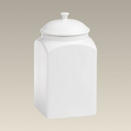 """Square Stoneware Canister, 10"""""""