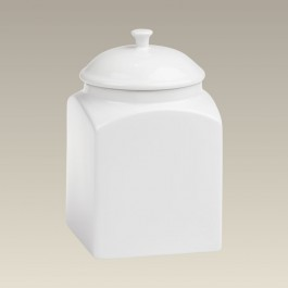 """Square Stoneware Canister, 8.5"""""""