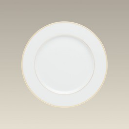 """8.375"""" Double Gold Banded Rim Salad Plate"""