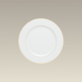 """7"""" Double Gold Banded Rim B&B Plate"""