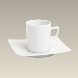 6 oz. Square Cup and Saucer