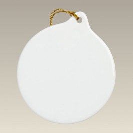 """Round Ornament with Hole, 3"""""""