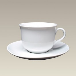 Tall Coupe Cup and Saucer, 6 oz.