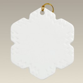 "3.5"" 6 Pointed Snowflake Ornament"