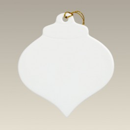 """3.5"""" Wide Pointed Sublimation Teardrop Ornament"""