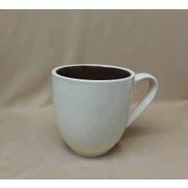 Natural Stone Mug w/Brown Interior, 16 oz