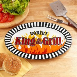 """Personalized King of the Grill Platter, 16"""""""