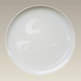 "11.75"" Ivory Coupe Plate"