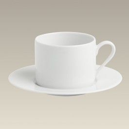 Can Shape Cup & Saucer, 10 oz