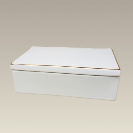"6"" Rectangular Box, Gold Banded"