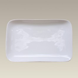 "8.5"" Porcelain Rectangular Coupe Tray"