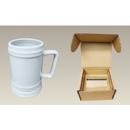 """22 oz. Sublimation Beer Stein, 5.75"""" in Remailer Box"""