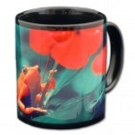 11 oz. Black Stoneware Sublimation Mug - Case of 36 (FREE GROUND SHIPPING)