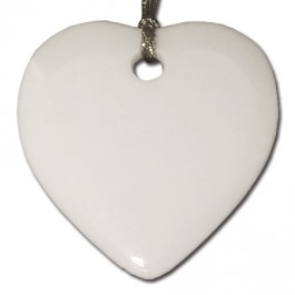 """1.5"""" Heart Sublimation Pendant and Ornament"""