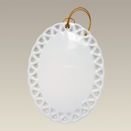 "3"" Openwork Oval Sublimation Ornament"