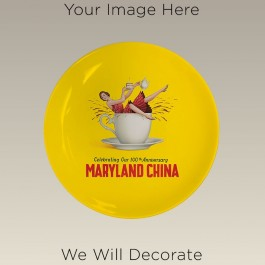 """8.25"""" Coupe Plate for Sublimation, DECORATED"""