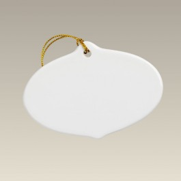 """3.75"""" Oval Sublimation Ornament"""
