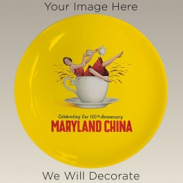 "10.75"" Coupe Plate for Sublimation, DECORATED"