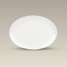 """Oval Coupe Platter for Sublimation, 12.875"""" x 9.5"""""""