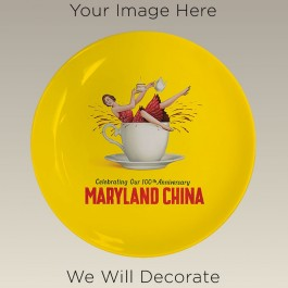 """9.5"""" Coupe Plate for Sublimation, DECORATED"""
