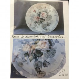 "Roses & Snowballs of Yesterday on 12"" Plate by Celee Evans"