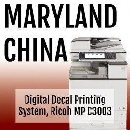 Digital Decal Printing System, Ricoh MP C3003