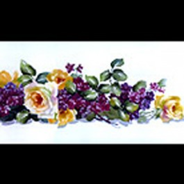 Roses and Double Violets by Mary Ashcroft