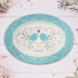 Personalized Wedding Platter, 15.5""